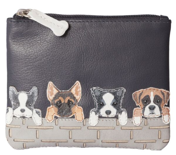 Luxury DOGS coin purse by Mala Leather german shephard boxer dog 4156 65 black GBP 13.99