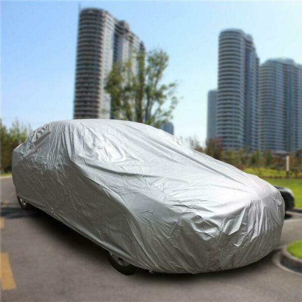 SnowDustRainUV Silver Size 3XL Universal Anti Dust Outdoor Full Car Cover