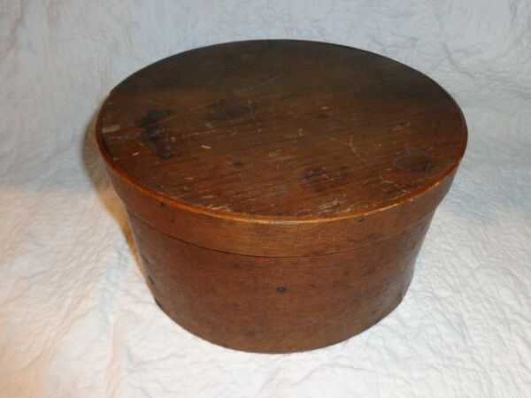 Antique 19th.c Bentwood Lidded Pantry Box