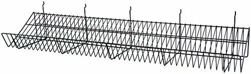 Count of 6 New Retails 24 Inch Black Finished Strong Welded Grid Wall Shelves