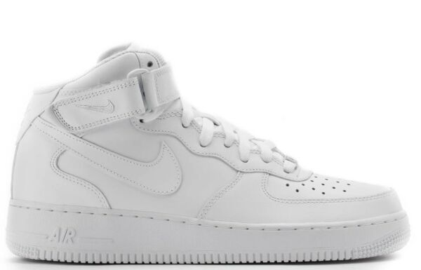Nike Men's AIR FORCE 1 MID '07 WHITE Shoes 315123-111 b