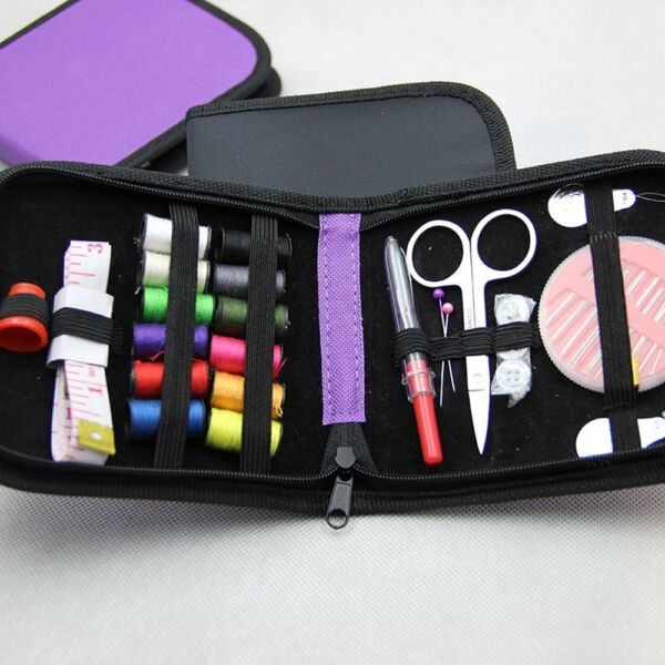 Mini Beginner Sewing Kit Case Set Adults Kids Home Travel Campers Supplies