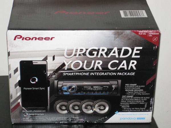 Pioneer Car Stereo Bundle MVH S3166BT Digital Media Receiver amp; 4 6.5quot; Speakers $184.00