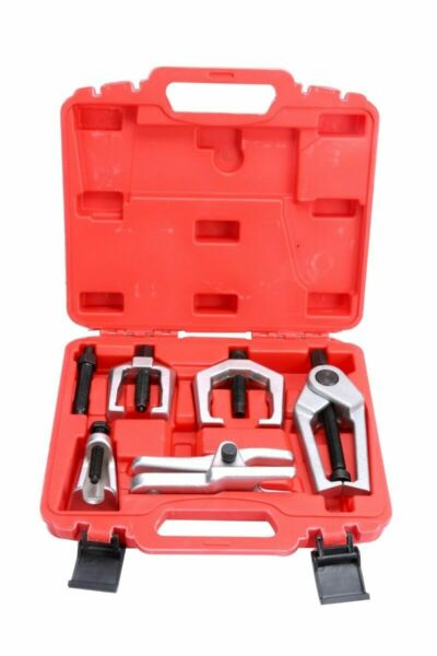 6pc Pitman Arm Puller & Ball Joint Separator Tie Rod Front End Service Tool Kits