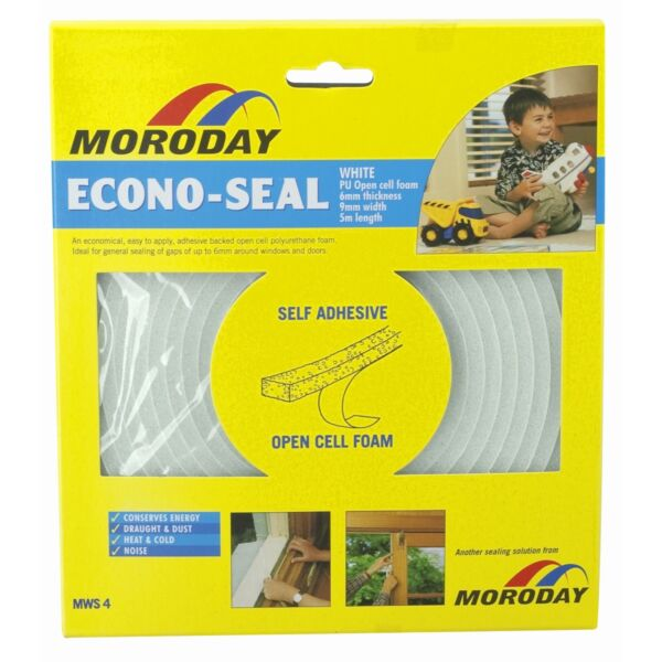 2x Moroday ECONO WEATHER SEAL TAPE Self AdhesiveCovers 6mm-9mm Gaps *Aust Brand
