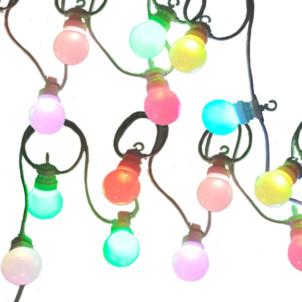 Colour Changing LED Festoon Lights multi-colour Christmas fairy lights by Qbis