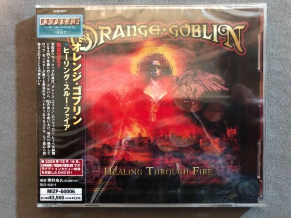 ORANGE GOBLIN - HEALING THROUGH FIRE 2007 CD + DVD JAPANESE VERSION WOBI SEALED