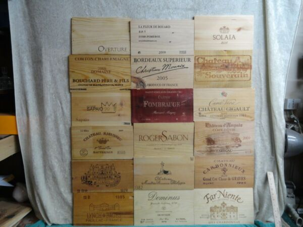 200 MIXED  WOOD WINE PANEL ENDS LOT  WALL ART FRANCE ITALY NAPA VALLEY