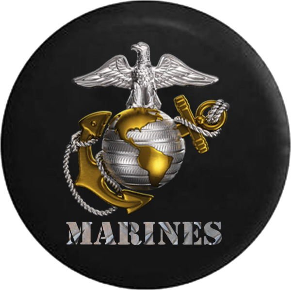 Spare Tire Cover USMC US Marine Eagle Globe Anchor Camperfor SUV or RV