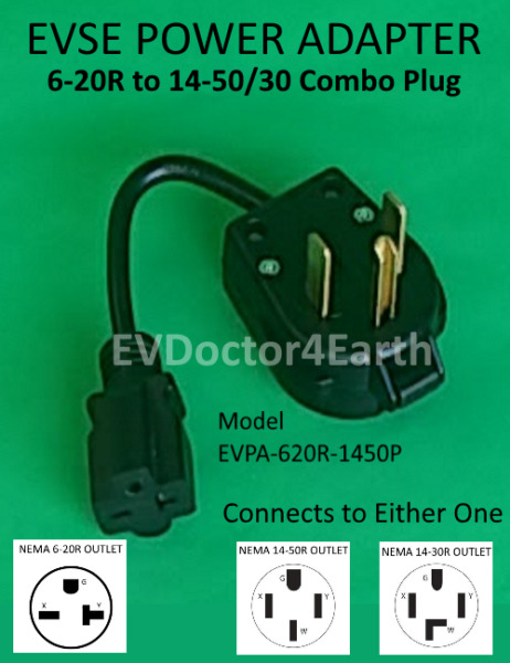 Sale! Adapter - Electric Vehicle Car Charger 240V, 6-20R to 14-30/50P combo
