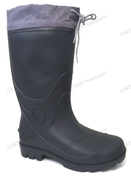 Brand New Men's Rain Boots Waterproof Drawstring Slip-Resistant Snow Work Shoes