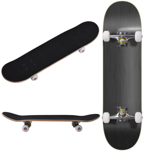 ROBBI Blank Complete Skateboard Stained BLACK 7.75quot; Skateboards Ready to ride
