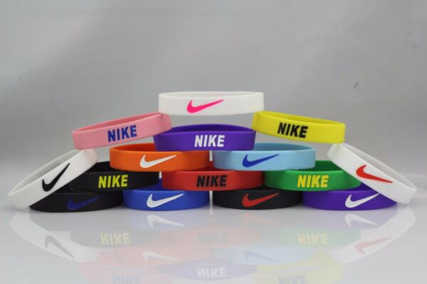 Nike Sport Baller Band Silicone Rubber Bracelet Wristband PICK FROM 32 COLORS  ❤