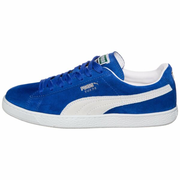 Puma Men's Suede Classic Shoes NEW AUTHENTIC Olympian Blue/White 352634-64