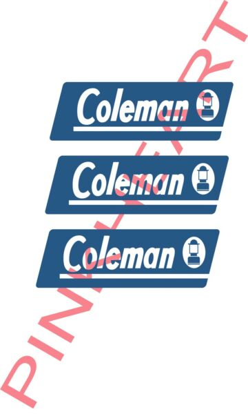 coleman rv camper pop up decal sticker popup decals made in the USA small $24.00