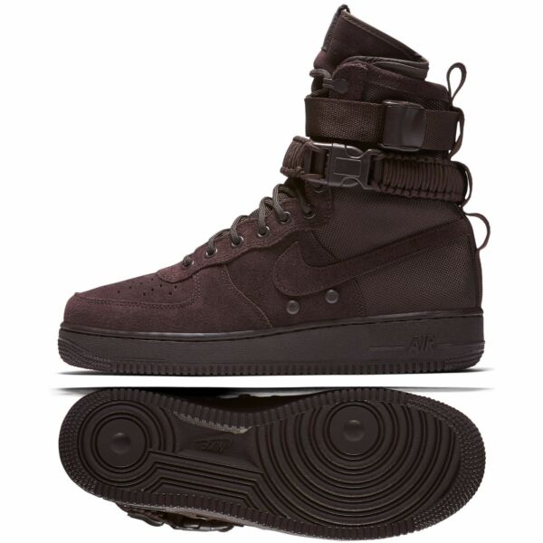 Nike SF Air Force 1 AF1 Hi 864024-203 Velvet Brown Suede Special Men Boots Sz 10