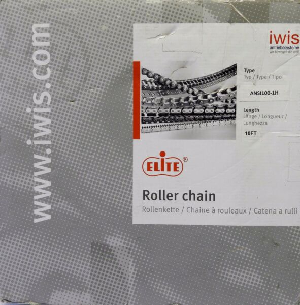 Elite Iwis Roller Chain A-RC100IMP RC 100 x 10 ft