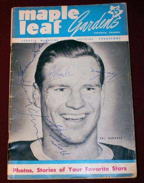 1951 Canadiens Maple Leafs Program Signed Maurice Richard Dick Irvin Ross Lowe !