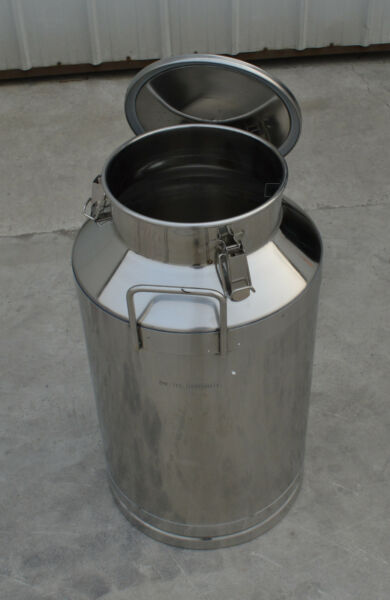 15.8Gallon Stainless Steel Milk Pail Farm Water Milk Wine Bucket Lid Storage New