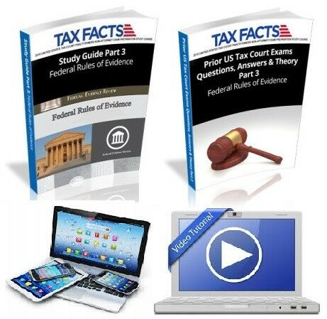 e-Book Tax Court Exam Study USTCP Federal Rules of Evidence Bundle