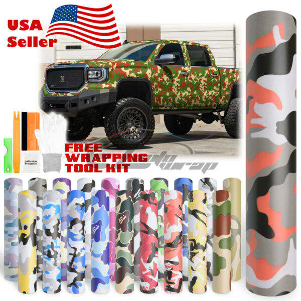 *16 Styles Camouflage CAMO Army Digital Desert Forest Vinyl Sticker Wrap Decal