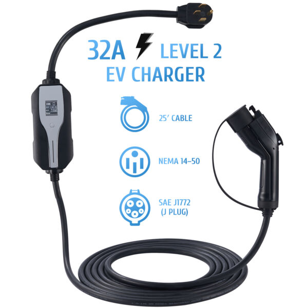 New 3X Faster Home Electric Vehicle Charger EV 220 Volt 16A EVSEJ1772 Level 2