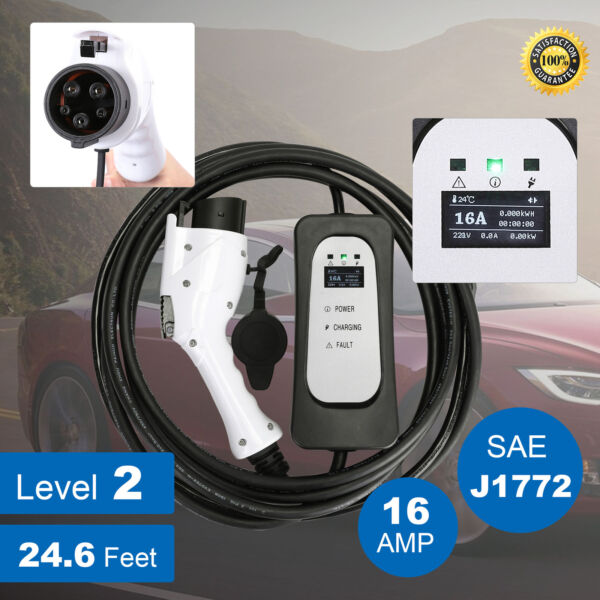 EVSE Electric Vehicle Charger EV Level 2 220Volt16A for Leaf w/Cord