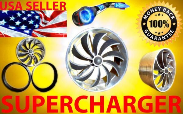Chevy Performance Air Intake Supercharger Turbo Fan Kit - FREE 2-3 USA SHIPPING