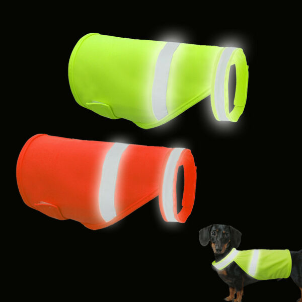 Orange Dog Safety Vest Reflective Small Large Pet Puppy Coat Clothes for Hunting $6.64