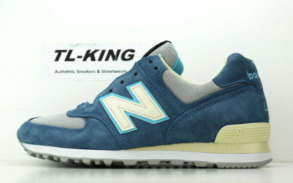 New Balance M574BOX American Tall Tale Pack Light Grey Blue Made In USA $160 4b