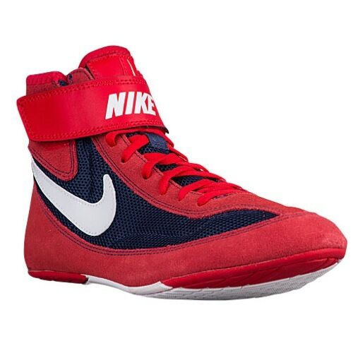 NIKE SPEEDSWEEP VII 7 MENS WRESTLING SHOES RED / NAVY / WHITE