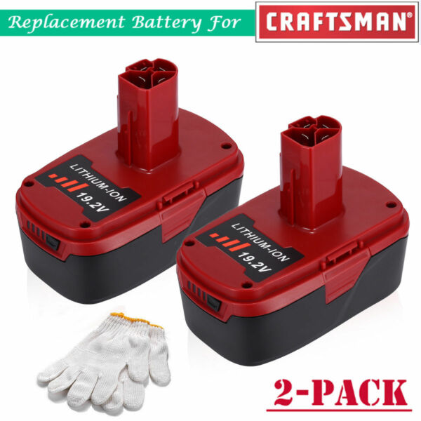 2 Pack 19.2V 4.0Ah C3 XCP Lithium Ion Battery for Craftsman 11375 110 HT