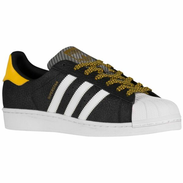 Adidas Originals Superstar Classic Sneakers New Black Yellow Steelers Q16710