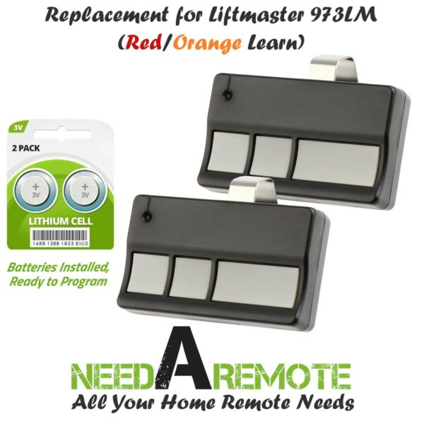 2 Replacement for Liftmaster 973LM 390mhz Car Garage Door Remote Opener