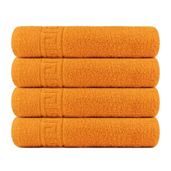 Bath Towel Cotton Set 4 Pcs Towels 28x56 Inch 500GSM Extra Soft Absorbent Contex