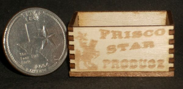 Dollhouse Miniature Frisco Star Texas Produce Crate 1:12 Market Grocery Store