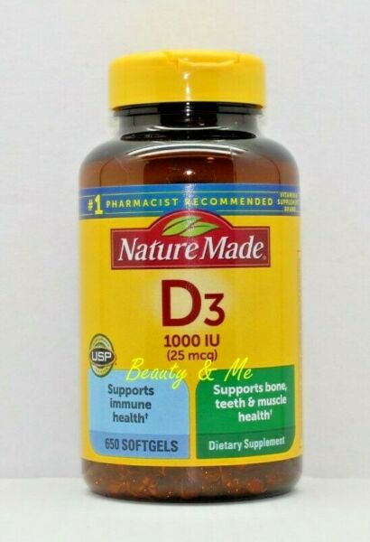 Nature Made Vitamin D3 1000 IU, 650 Softgels