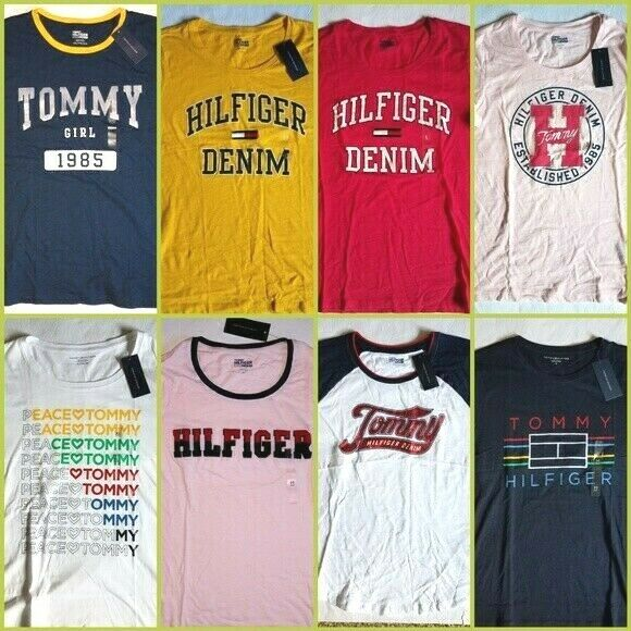 TOMMY HILFIGER women`s Graphic t shirt TH Logo Pick your Color $16.35