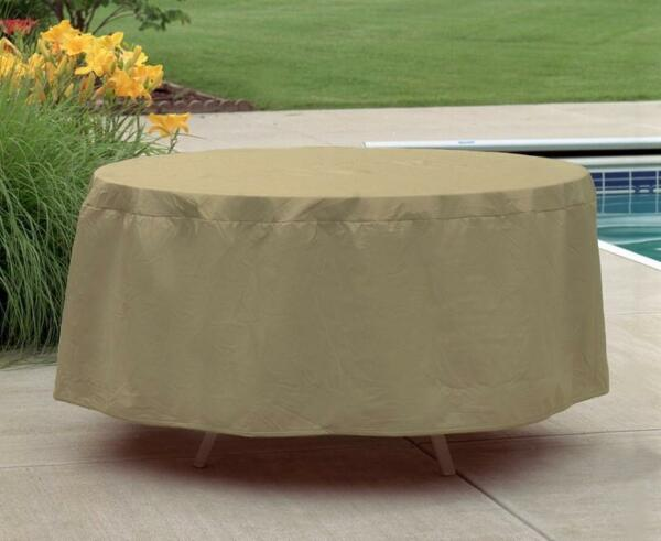 Table Patio Furniture Cover Waterproof Outdoor Protection Round 54quot; Ø