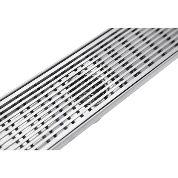 Linear Shower Drain with Satin Wedge Wire Grate Floor Drain S304 Stainless Steel