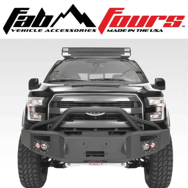 Fab Fours Pre Runner Premium HD Winch Front Bumper For 2015-2017 Ford F-150