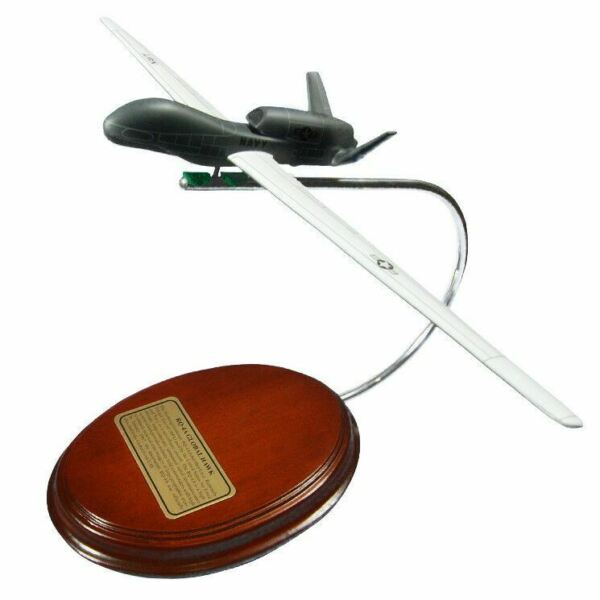 Airplane USNV  Northrop Grumman Global Hawk Drone RQ-4A Wood Model Aircraft