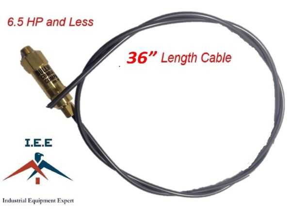 New 36quot; Bullwhip Throttle Control Cable For Gas Air Compressor Unloader 6.5 HP $17.69