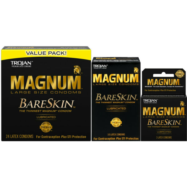 Trojan Magnum BareSkin Thinnest Large Lubricated Condoms - Choose Quantity