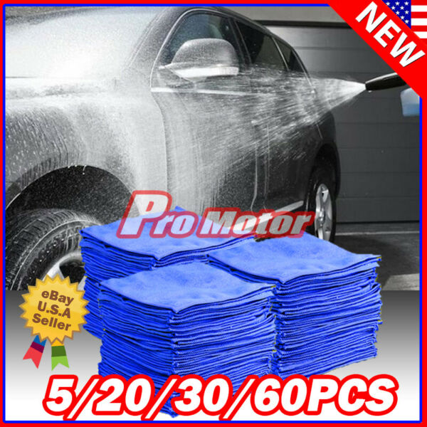 Lot Pack Microfiber Cleaning Cloth Towel No Scratch Rag Car Polishing Detailing $8.00