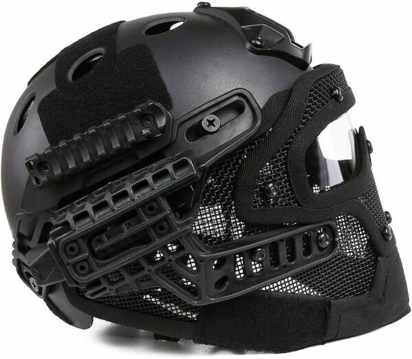 Airsoft Paintball Tactical Fast Helmet Goggles amp; G4 System Games Full Face Mask $69.11