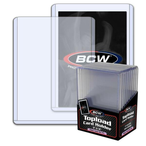 10 BCW 5mm Thick 3 x 4 Toploaders - 197 PT Jersey Memorabilia Holder