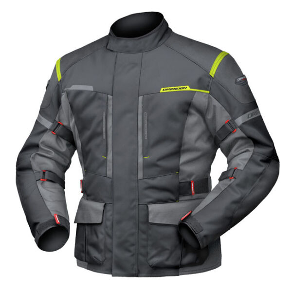 L Large Mens DriRider Summit Evo Jacket Motobike Waterproof BLACK ANTHRACITE