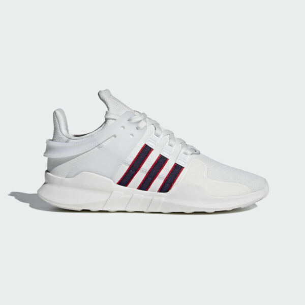 {BB6778} MEN'S ADIDAS ORIGINALS EQT SUPPORT ADV SHOES WHITE/NAVY/RED *NEW*