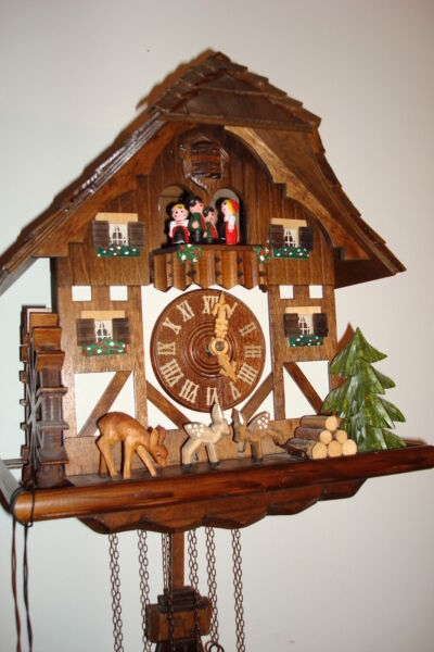 VTG Black Forest  CUCKOO CLOCK  MADE IN GERMANY WITH SWISS REUGE Music Box